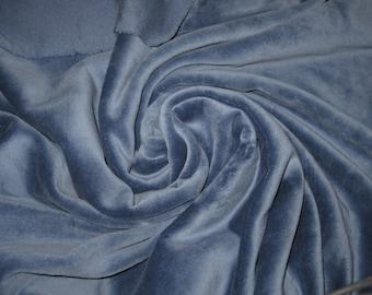 80/20 CVc Cotton Velour  - Denim  Blue CVC Velour