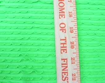 Amazing Brighter Lime Green Ruffle Fabric Nylon Spandex Knit Fabric Swim Gym Pageant