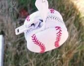 Baseball Masquerading Macaroon Coin Purse Key Fob