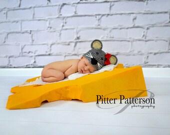 Cute Mouse Beanie Cap Newborn  - Adult Great Photo Prop