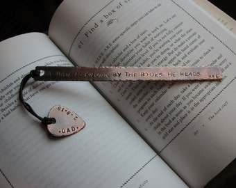 Personalized Handstamped Custom Guitar Pick Bookmark with Quote or Special Message-Teacher Gift,Gift for Professor,