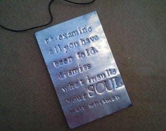 Upcycled Pop Can Magnet Quote