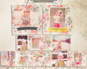 Felicity 3x3 Accordion book templates for photographers