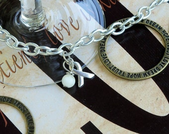 Bone Cancer, Spinal Muscular Atrophy, Cataract, Lung Cancer, Mesothelioma Awareness Bracelet