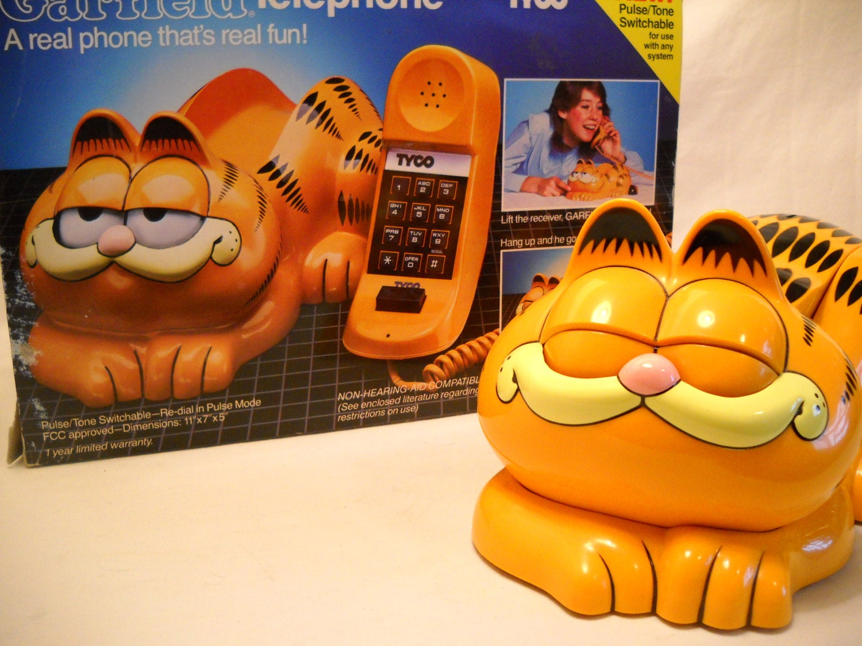 Vintage Garfield Telephone In Original Box 1980 S