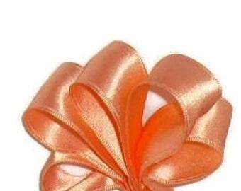 "Peach Satin Double Faced Wire Ribbon...1"" X 15 Feet"