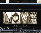 Alphabet Photography Custom Love 10 X 20 framed
