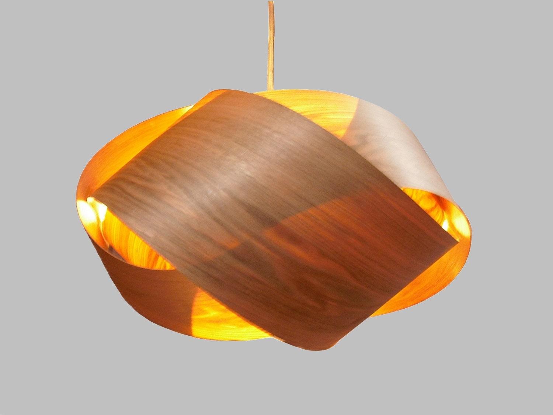 Granny knot wood veneer pendant lamp butternut zoom mozeypictures Images