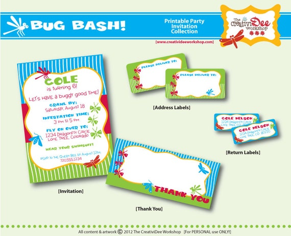 Bug Bash Birthday Party Printable by CreativiDeeWorkshop ...