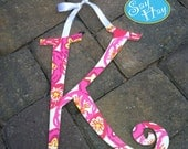 Lilly Pulitzer print hand painted wooden initial or monogram