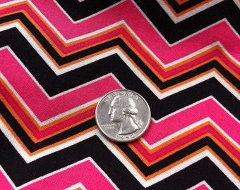 Black PINK Orange CHEVRON One Yard  5 Yards available New 100% Cotton Fabric One Yard SUEDE Says 2012 Chevron Mod Fabric Flirty Edgy Classic