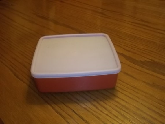 Vintage Tupperware Sandwich Keeper Container In Brick Red With