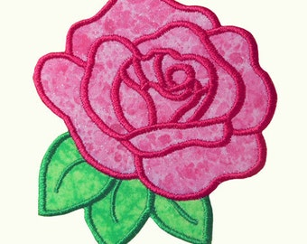 Rose Applique Embroidery Machine Design