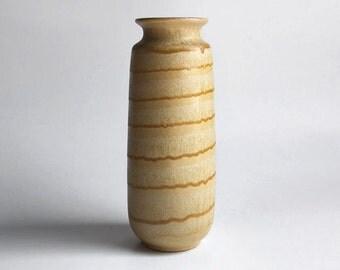 Tall Mid Century German Beige Vase - Scheurich 60s