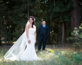 Wedding Veil Chapel Length White Illusion Tulle