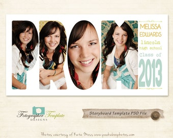 Prom Photography Storyboard Templates Collage Storyboard Photoshop Template for Photographers - S109