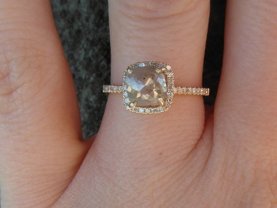 dazzling one of a kind engagement ring 14k yellow gold mounted cushion shaped - One Of A Kind Wedding Rings