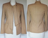 Suit Jacket Top Beige Brown Bow Vogue Paris Original