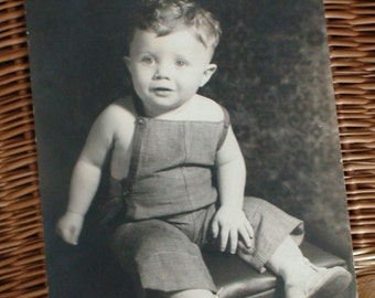 Charming Toddler Black and White Studio Photo, 1930s