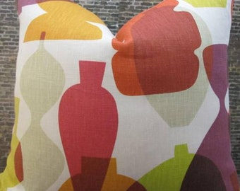 SALE Designer Pillow Cover Lumbar, 16 x 16,18 x 18 - Jonathan Adler Vases Multi Color