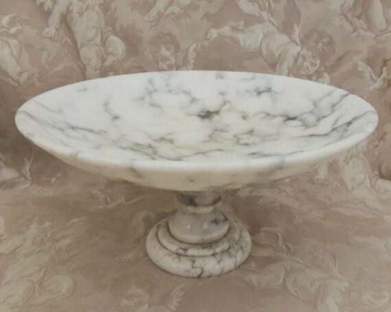 Italian Alabaster Large Vintage Pedestal By