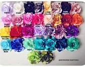 2 Satin Rose flowers