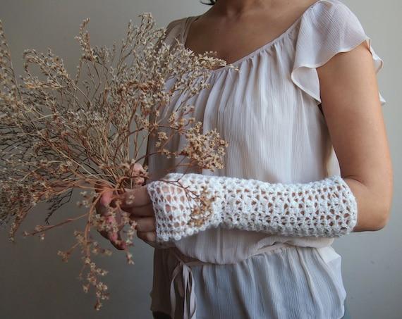 Pdf crochet pattern fingerless lace elbow long mittens gloves