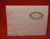 Floral Embossed Thank You Card Set - 4