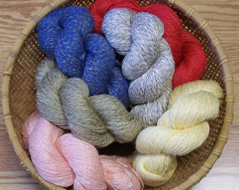 Linen/Rayon Yarn, Knitting, Weaving, Crochet 4 Ounce Skein/ On Sale