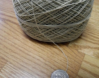 2 Ply Sand Colored Cotton, 4 Ounce Ball, Warp, Weaving, Yarn ON SALE