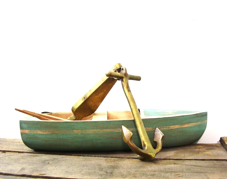Vintage brass door knocker ship anchor rostand nautical - Nautical door knockers ...