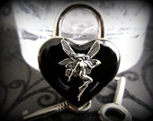 Heart Lock, Fairy heart  lock, BDSM Lock, lock and key, locking Jewelry