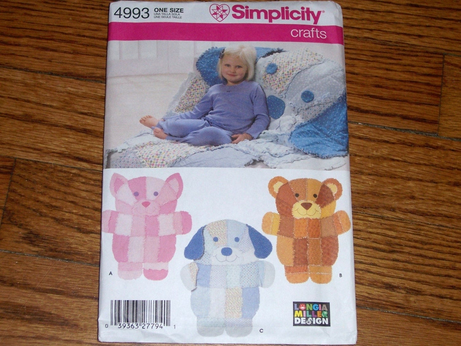 simplicity crafts 4993 longia miller design rag quilt wall On simplicity craft pattern 4993