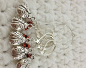 Removable Stitch Markers Lady Bugs - 5 Red Lady Bug Stitch Markers for Crochet and Knitting