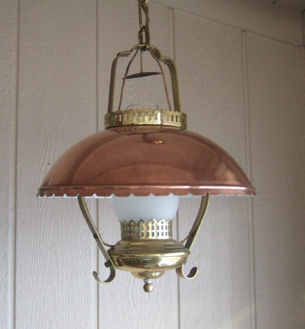 Hanging Light Fixture: Vintage Hanging Light Fixture Vintage Hanging Lamp Country