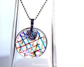 Modern and Colorful Design Round Glass Pendant
