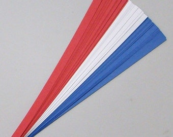 Red, White and Blue : Lucky Stars Paper Strips (100)