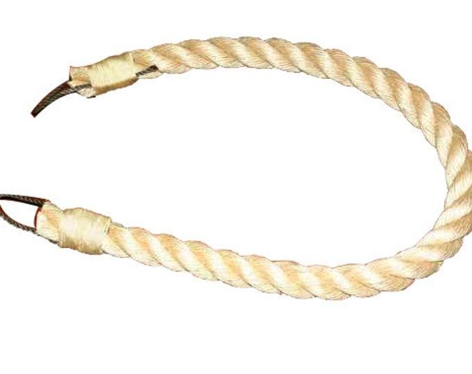 "32"" Natural Chunky Rope Curtain Tie Back Beige Tan Khaki Rope Tieback Thick 1-1/8 Diameter"