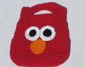 RTS - Elmo inspired crochet kids tote bag purse - Sesame Street