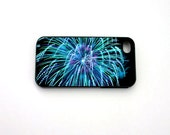 iphone 5 Case, iphone 4 Case, iphone 4s Case, Independence Day, Fireworks, Blue, Turquoise, Teal, Black, July fourth