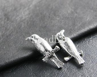 4pcs / Bird / Pendant / Charm / Oxidized Silver / Base Metal / 34x15mm  (XA2830//B132)