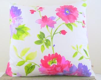floral pillow cover - spring pillow - flower pillow - vintage pillow - natural pillow - pink pillow - decorative pillow - traditional pillo