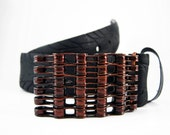 Recycled Bike Chain Belt Buckle- Curved- Copper Orange Finish