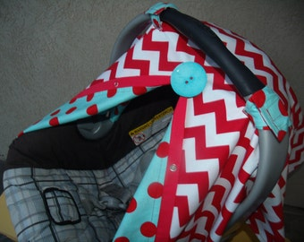 Chevron Carseat Canopy Red Chevron carseat cover Freeshipping Code today