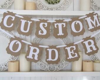 Custom Order for Joni- JUST MARRIED AGAIN Banner