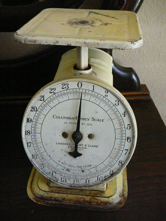 SALE Vintage Scale 1907 Home Decor Columbia Family