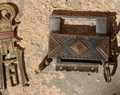 Antique Decorated Tuareg Padlock with Key Tuareg