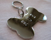 Pet Tag-Dog Bone ( gold or silver finish)