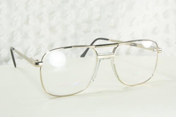 80s Glasses 1980s Aviator Eyeglasses Mens Silver by ...