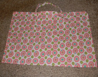 White, Pink, and Green Flowered Nursing Cover